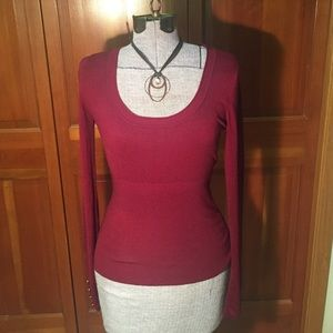 Pattyboutik Sweaters - NWT Pattyboutik Scoop Neck Sweater, Wine