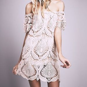 Free People Dresses & Skirts - RESERVED: Free People lace dress, size small