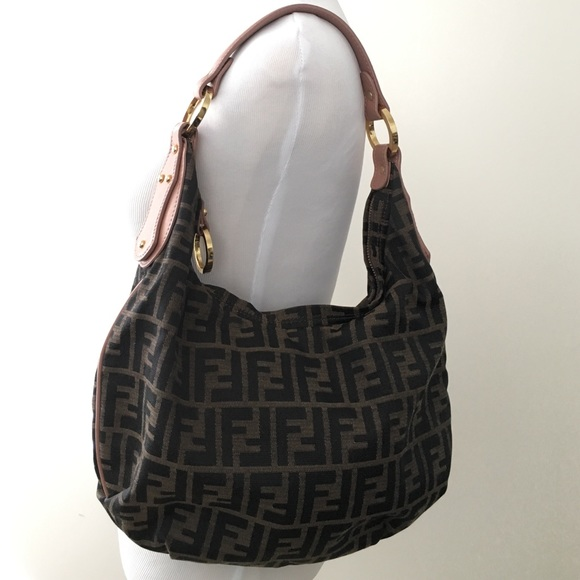 f38da44f14c5 FENDI Handbags - Authentic Vintage Fendi Zucca Monogram Hobo Bag!
