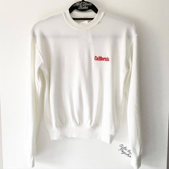 Brandy Melville Bnwt California Embroidery Orlena Sweatshirt From