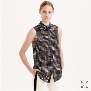J. Crew Tops - J. Crew sleeveless blouse in graphic plaid