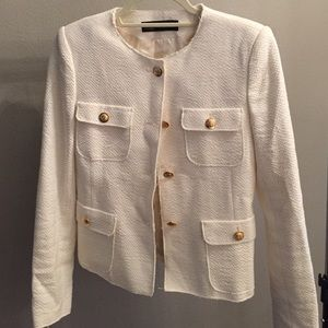 Zara knit white blazer