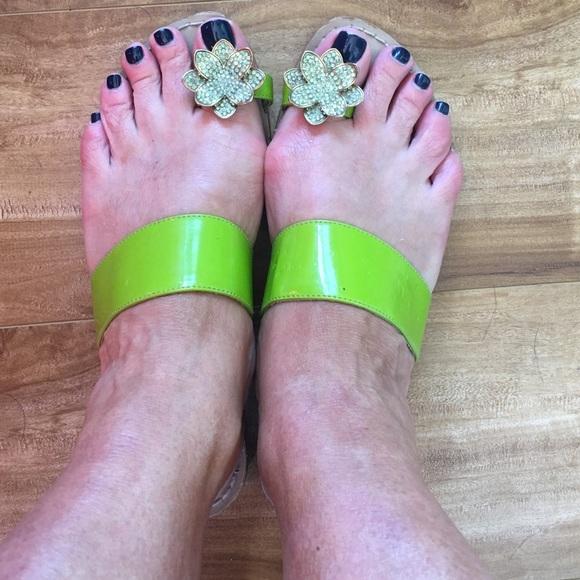 Miss Trish of Capri Shoes | Ms Trisha Lime Green With Rhinestone ...