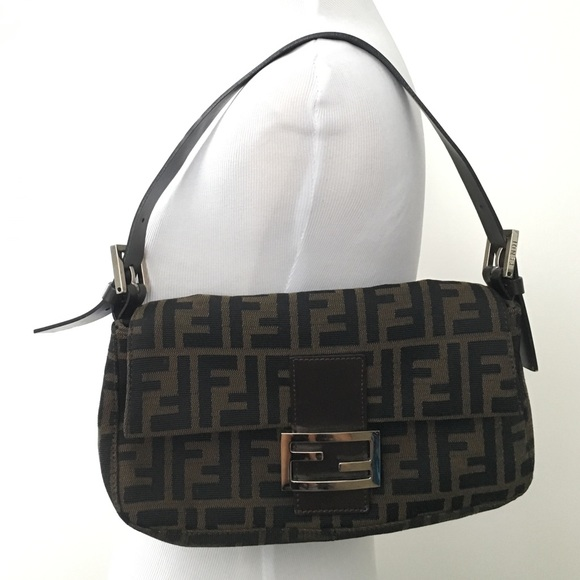 b62924c8ac56 FENDI Handbags - Authentic Vintage Fendi Zucca Micro Baguette Bag!
