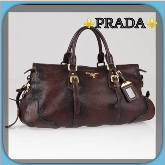80850aa5c180 Prada⚜Cacao Deerskin Leather Cervo Antik Handbag. M_57c337ef56b2d6d8d100a5cc