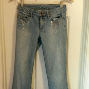 Bongo distressed flared leg jeans