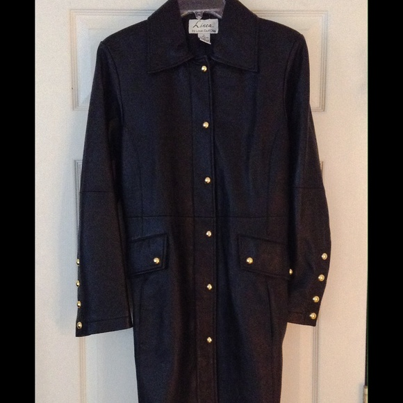 Louis Dell Olio Jackets Amp Coats Black Leather Coat Size
