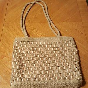 Crochet double handle bag