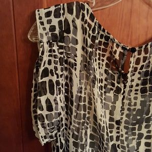 a. byer Tops - Semi sheer top with cami euc