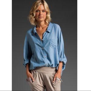 Eryn Brinie Tops - Eryn brinie denim chambray button down shirt