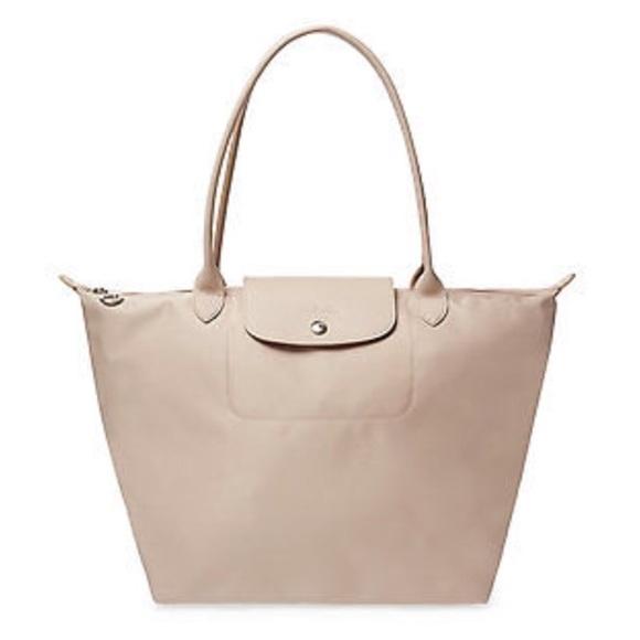 523d8d01c6 Longchamp Handbags - Longchamp Le Pliage Neo Large Beige Nylon Tote