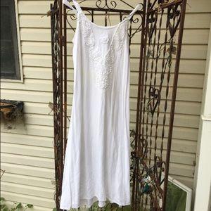 Stark white long summer dress