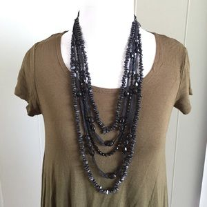Jewelry - Layered textured necklace