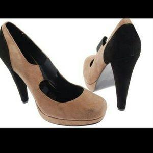 Colin Stuart Shoes - Colin Stuart Suede MaryJane Stretch Strap HighHeel