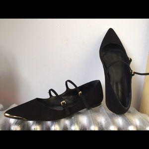 Zara Shoes - ZARA Black suede flats