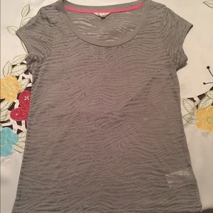 Energie Tops - GRAY BURN-OUT TEE
