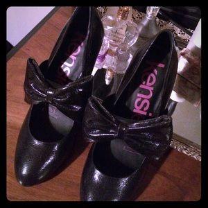 Kensie Girl Black with Bow Heels
