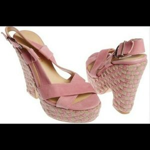Colin Stuart Shoes - Colin Stuart Pink Espadrille Platform Sandal 7.5