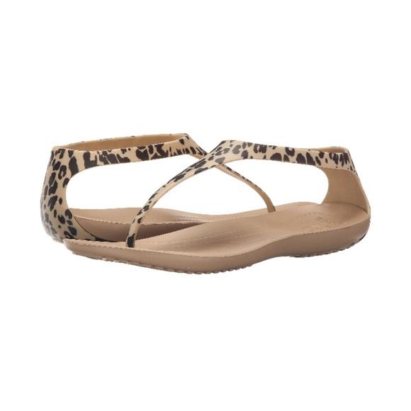 3cefc840fa4d Summer flip flops thong sandals crocs leopard