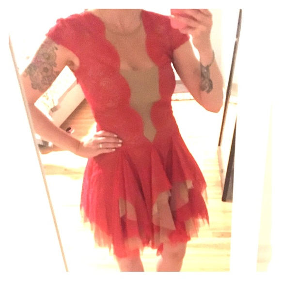 Bcbg cocktail dress red