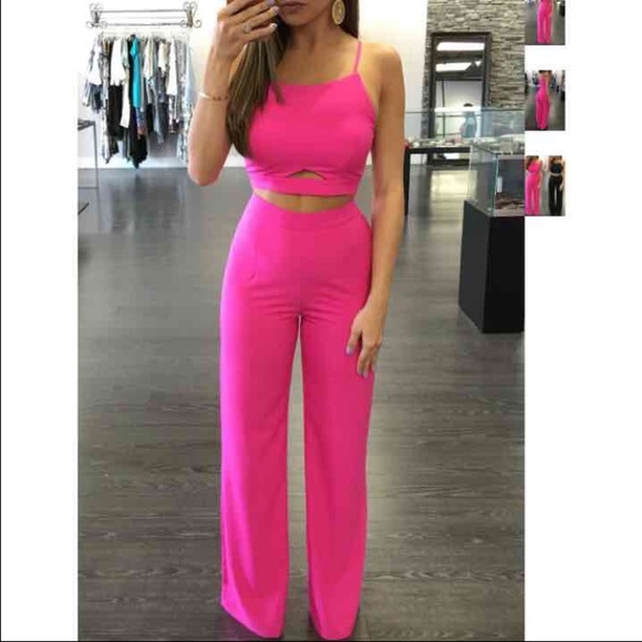 e2c11c38f9 Other | Hot Pink 2 Piece Pant And Top Set | Poshmark