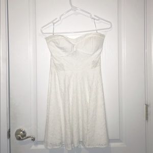 Wet Seal Lace/Floral Strapless Dress