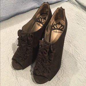 Fergalicious Shoes - NEW Fergalicious peep toe bootie shoes