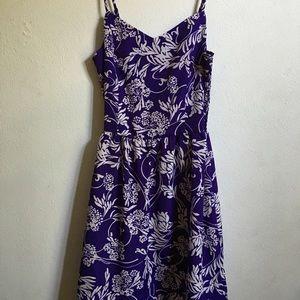 GAP Dresses & Skirts - GAP Purple & White Floral Spaghetti Strap Sundress