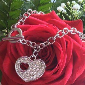 Jewelry - 🎉HOST PICK🎉Swarovski Heart Toggle Bracelet