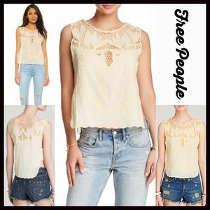 Free People Tops - FREE PEOPLE Boho Crochet Tank Top