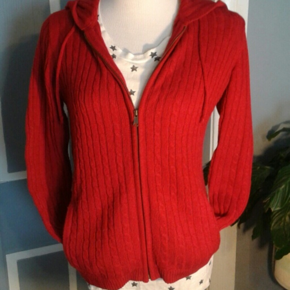 Talbots - *HP* Cherry Red sweater hoodie by Talbots from Karen's ...