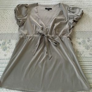 Express shimmering gray blouse S