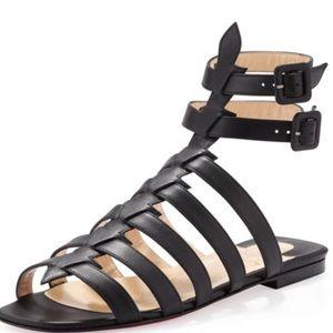 7ea90a1dfcf Christian Louboutin Shoes - Christian Louboutin NERONNA Black Gladiator  Sandal