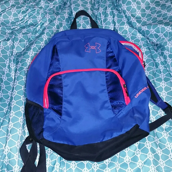 Under Armour Bags   Navy And Coralhot Pink Backpack   Poshmark 2564b1d94b