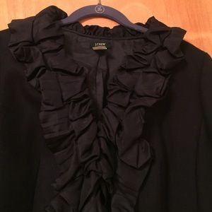 J. Crew Jackets & Coats - J. Crew Pleated Silk Chimera Jacket, Dark Navy