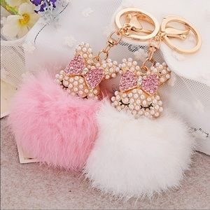 SALE Bunny/Rabbit FurBall Bag Charm/Keychain