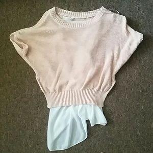 Short sleeve sweater shirt