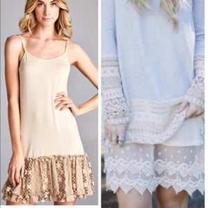 •lace dress extender•