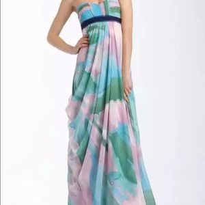 Bcbg maxi in pastel watercolor print
