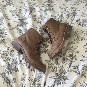 Forever 21 Shoes - DISTRESSED MOTO BOOTIES