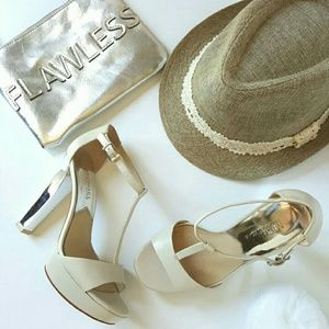 MICHAEL KORS STRAP MIRROR HEELS SANDALS