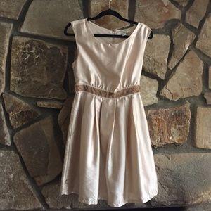 Metallic Blush Party Dress