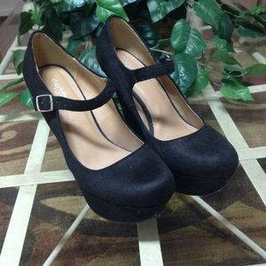 Black Wedges with Ankle Straps