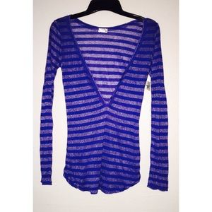 Intimately Free People Long Sleeve Henley Top
