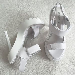 Jeffrey Campbell strappy platform heels velcro