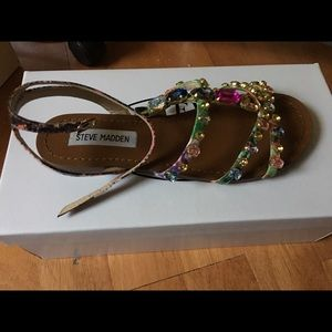 56929c0fb2908 Steve Madden Shoes - Steve Madden Bjeweled Bright Multi sandals