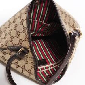 authentic Gucci monogram medium new Britt hobo
