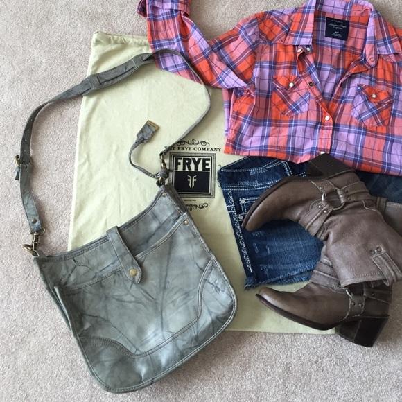 e1eeb1ca7 Frye Bags | Campus Crossbody In Gray Dakota Leather | Poshmark