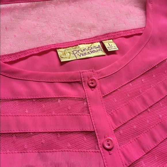 Vera Wang Tops - NEW! Vera Wang Princess Spring Pink Lace Top L