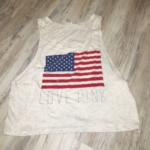 PINK American Flag Tank Top